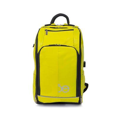 Mochila Porta Laptop Material Impermeable Color Amarillo Limón