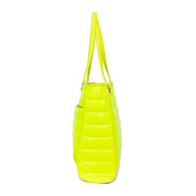 """Bolsa Porta Laptop 16"""" Abullonada Color Amarillo Limón"""