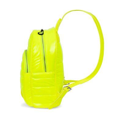 Mochila Grande Abullonada Color Amarillo Limón