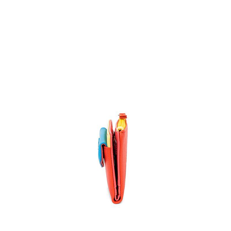 Cartera-Flap-Cloe-by-Agatha-Ruiz-de-la-Prada-Bloques-Multicolor-en-Color-Coral-|-Cloe