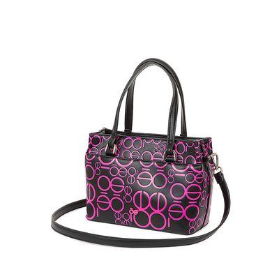 Bolsa Satchel Estampado Color Rosa