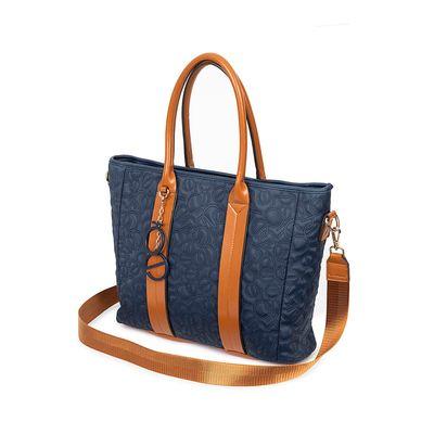 "Bolsa Porta Laptop 15"" Material Neopreno Apilable En Equipaje Color Azul Marino"