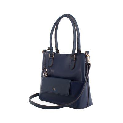 Bolsa Tote 3-en-1 Con Cartera Removible Color Azul Marino