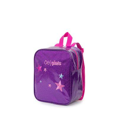 Mochila Para Niña Cloe Girls Estampado Estrellas Con Glitter Color Morado