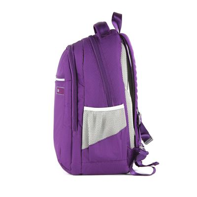 "Mochila Textil Porta Laptop 15"" en Color Morado"