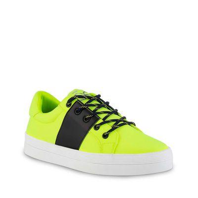 Tenis de Plataforma material Neopreno en Color Limón