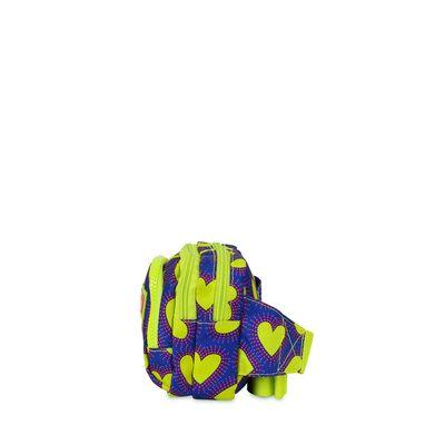 Cangurera Cloe by Agatha Ruiz de la Prada con Estampado Corazones en Color Azul Eléctrico