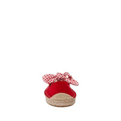 Alpargata Con Moño De Lunares Mafalda X Oe Color Rojo