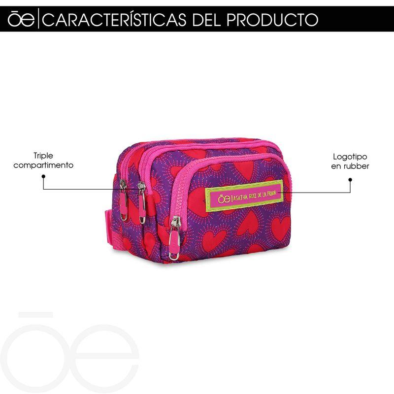 Cangurera-Cloe-by-Agatha-Ruiz-de-la-Prada-con-Estampado-Corazones-en-Color-Electrico- -Cloe