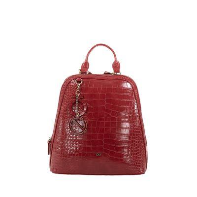 Mochila Look Croco Color Rojo