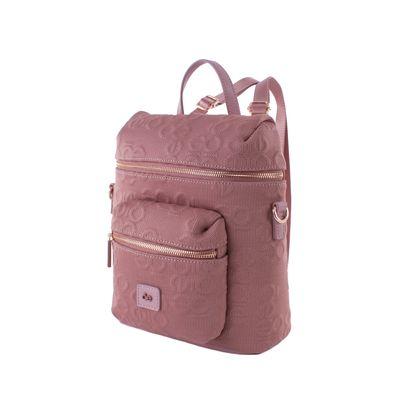 Mochila 2-en-1 Material Textil Color Rosa