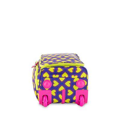 Maleta Duffle Bag con Ruedas 16 Cloe by Agatha Ruiz de la Prada con Estampado Corazones en Color Eléctrico