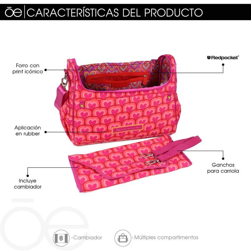 Pañalera-Cloe-by-Agatha-Ruiz-de-la-Prada-estampado-de-Corazones-en-Color-Electrico-|-Cloe