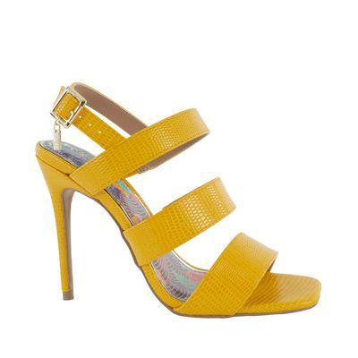 Sandalia con Tacón Puntal color Amarillo