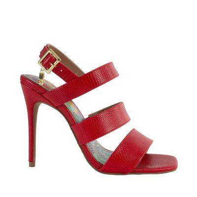 Sandalia con Tacón Puntal color Rojo