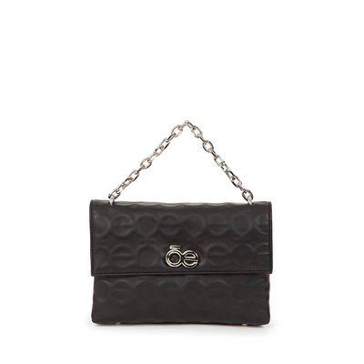 Bolsa Briefcase Troquelada con Asa Cadena color Negro