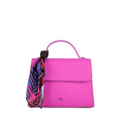 Bolsa Briefcase  con Mascada Estampada Removible color Morado