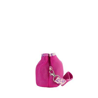 Cosmetiquera con Malla Textil color Magenta