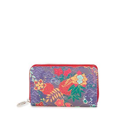Cartera  Mediana Cierre Sencillo Estampado Floral color Multicolor