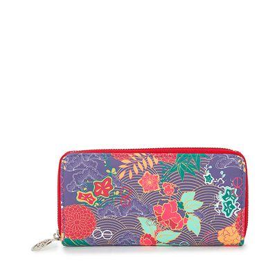 Cartera  Grande Cierre Sencillo Estampado Floral color Multicolor