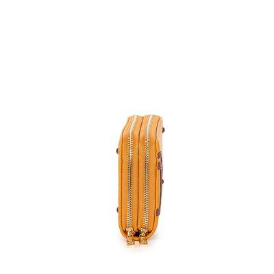 Cartera  Grande Cierre Doble color Amarillo Ocre