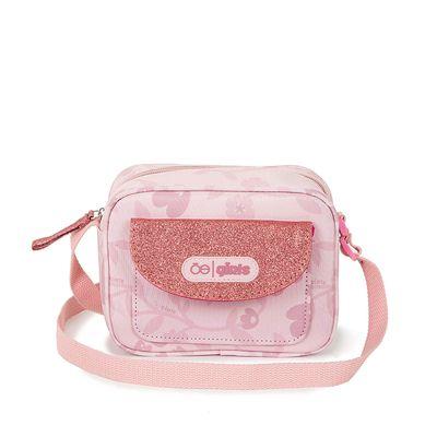 Bolsa Crossbody Estampado Floral color Rosa