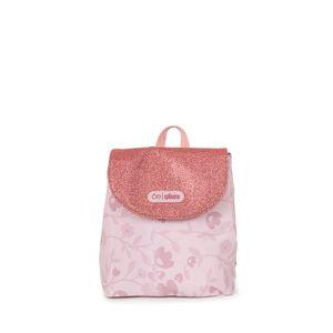 Mochila Estampado Floral Color Rosa