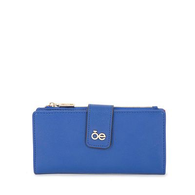 Cartera Grande Flap Color Azul Eléctrico