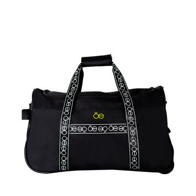 Duffle bag con Ruedas Franja Icónica color Negro
