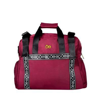 Duffle bag con Franja Icónica color Rojo Tinto