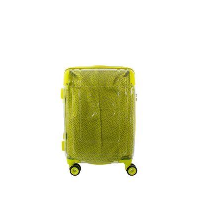 """Maleta Chica 20"""" De Cabina Diseño Transparente Forro Visible Color Amarillo Limón"""
