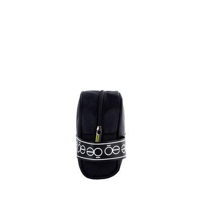 Cosmetiquera con Franja Icónica color Negro