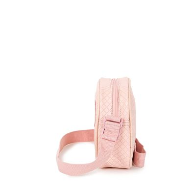 Bolsa Crossbody Troquelado Detalle En Glitter Color Rosa