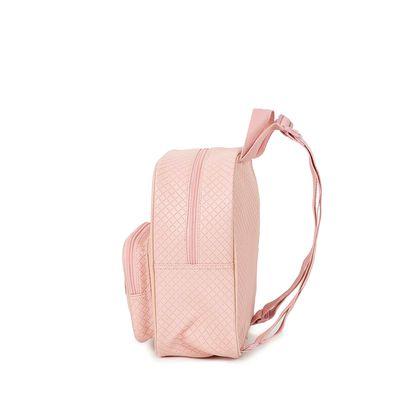 Mochila Troquelada Detalle En Glitter Color Rosa