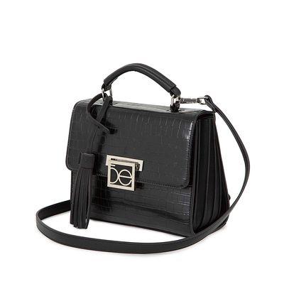 Bolsa Briefcase Look Animal Skin Color Negro