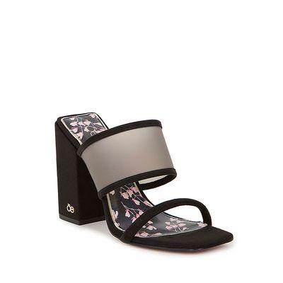 Sandalia Cloe Con Plantilla Decorativa Color Negro