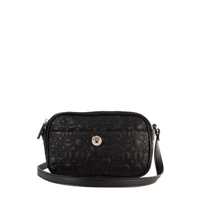 Bolsa Crossbody  con Abullonado Icónico color Negro