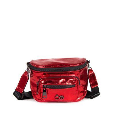 Cangurera  Metálica color Rojo