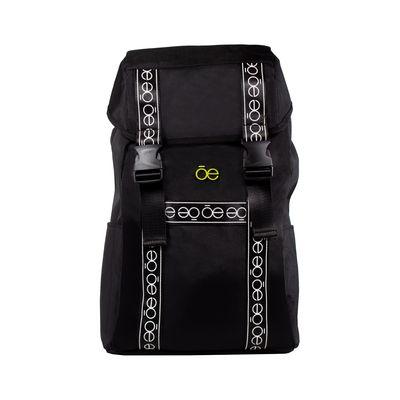 "Mochila Porta Laptop (16"") con Franja Icónica color Negro"