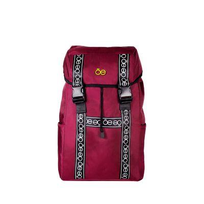 "Mochila Porta Laptop (16"") con Franja Icónica color Rojo Tinto"
