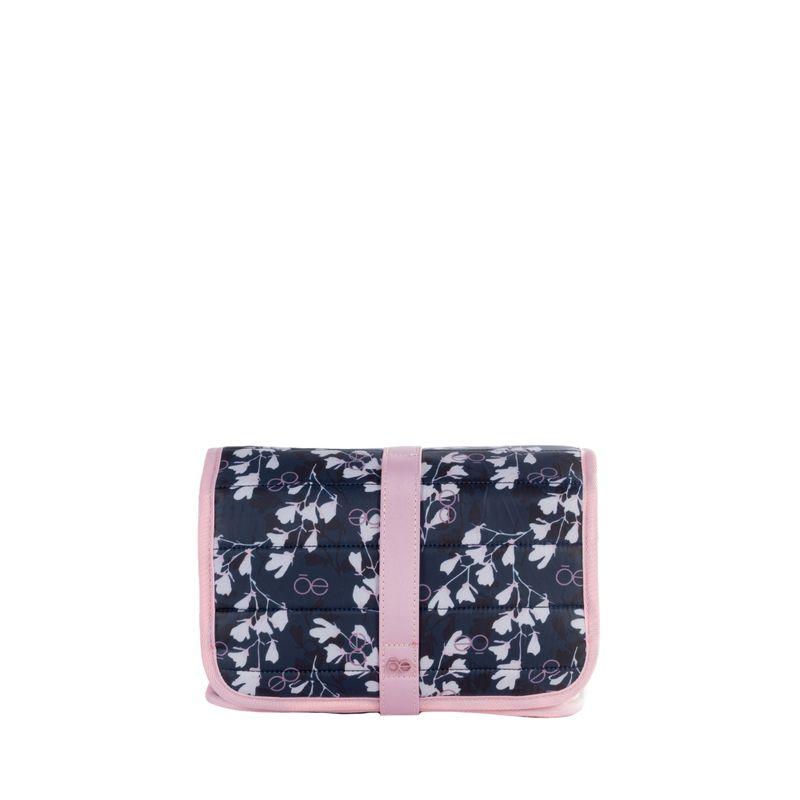 Cosmetiquera-Nylon-Acolchado-con-Estampado-Floral-color-Azul-Marino-en-Color-Marino-|-Cloe
