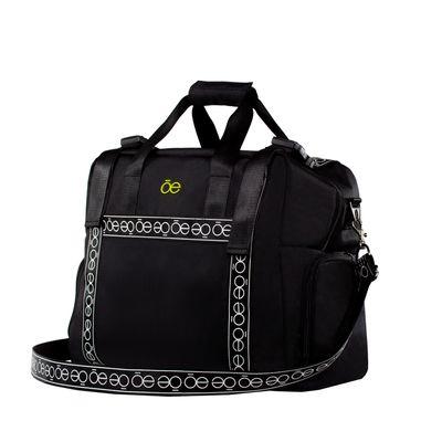 Duffle bag con Franja Icónica color Negro