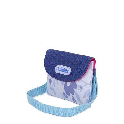 Bolsa Crossbody Estampado Floral color Azul