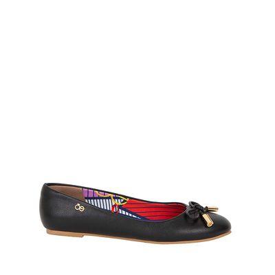 Flats Cloe Moño Frontal Color Negro
