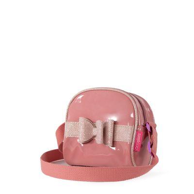 Bolsa Crossbody de Charol con Moño color Rosa