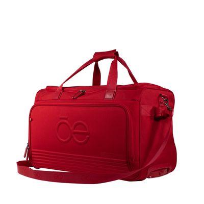 Duffle bag con Ruedas Clásico color Rojo