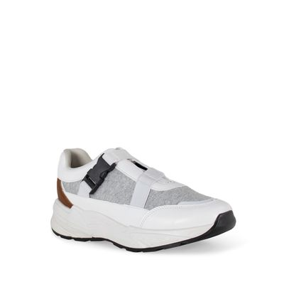 Tenis con Tiras Elásticas color Blanco