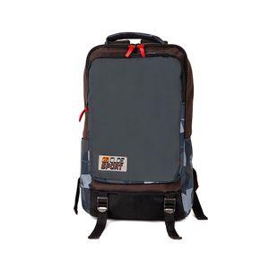 "Mochila Porta Laptop 15"" Detalle estampado color Gris"