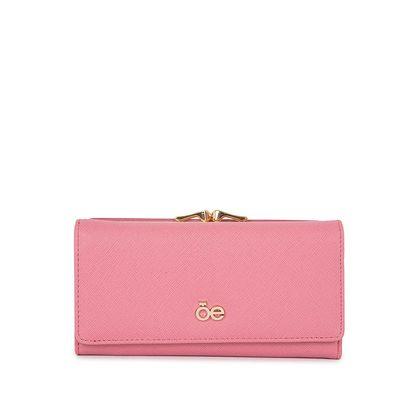 Cartera Flap Grande con Monedero color Rosa