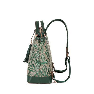 Mochila Tejido Tribal color Verde